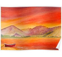 Haystacks and Red Boat-UK Lake District  Poster