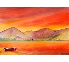 Haystacks and Red Boat-UK Lake District  Photographic Print