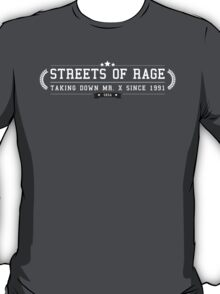 Streets Of Rage - Retro White Clean T-Shirt