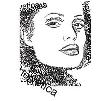 Jolie and helvetica Photographic Print