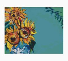 SUNFLOWERS IN BLUE TURQUOISE Kids Clothes