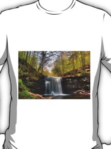 Greening Trees at Harrison Wright Falls T-Shirt