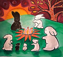 Rabbits and the Egg 2 by Suzi Linden