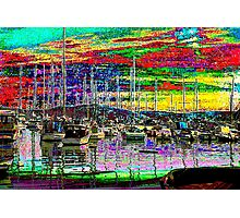 Boats at Tarabya Bay Photographic Print
