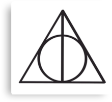Harry Potter Deathly Hallows symbol Canvas Print