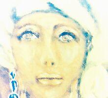 Lady in a White Scarf by Moira Du Toit