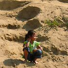 A Lao Girl at the Shore by MeBoRe