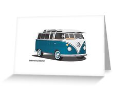 VW Bus T2 Turkis Greeting Card