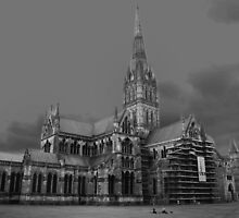 salisbury cathedral by opiumfire