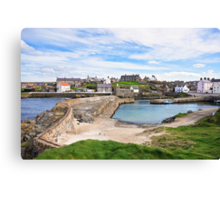 Portsoy 17th Century Old Harbour  Canvas Print