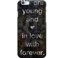 Young and In Love (Flowers) iPhone Case/Skin