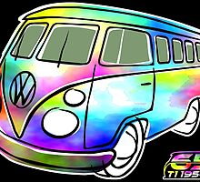 Psychedelic VW bus by car2oonz