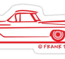 1959 1960 Chevrolet El Camino Red on Blk Sticker