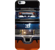 Bugatti luxury sport car back view iPhone Case/Skin