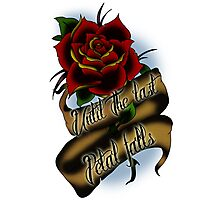Beauty and the Beast Rose Tattoo Photographic Print