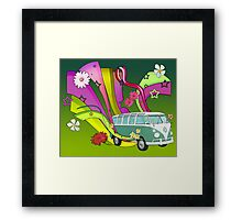 60's Van with Foulli and Gerbera Framed Print