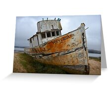 Rusted Boat Greeting Card