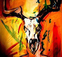 Curnunnos -Stags skull by foxandbadger