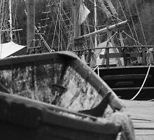Tall ship, Charlestown, England by 1throughmyeyes