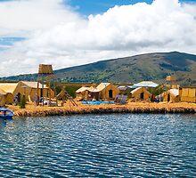 Uros Island, Puno, Peru by juan jose Gabaldon