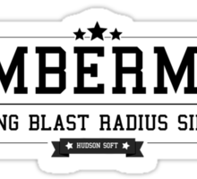 Bomberman - Retro Black Clean Sticker