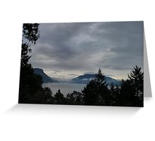 Landscape cloudy sky Greeting Card