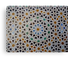 Traditional moroccan mosaic Canvas Print