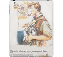 How to Make Good Custard - (A 1940's Ad)  iPad Case/Skin
