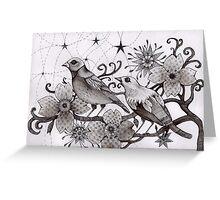 moonlight birds Greeting Card