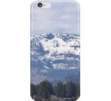 Snow Covered Mountain Tops iPhone Case/Skin