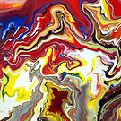 Fluid Flowing Abstract Painting by markchadwick