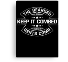 The Bearded Gents Logo Canvas Print