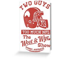 Two Guys Too Much NFL Red Edition Greeting Card