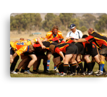 Masters Games - Rugby Union 2009 SCRUM Canvas Print