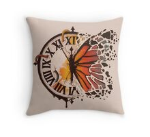 A Ruptured Time Throw Pillow