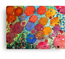 Blueberries and Wildflowers Canvas Print