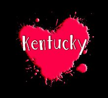 Kentucky Splash Heart Kentucky by Greenbaby