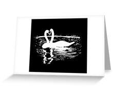 Black & White Swan Greeting Card