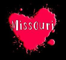 Missouri Splash Heart Missouri by Greenbaby