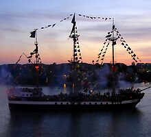 "The Pirate Ship ""Jose Gasparilla"" by David Lee Thompson"