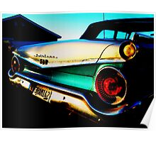 Fifties Ford Fairlane Fairly Parked on the Parkway Poster