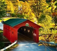 West Arlington Covered Bridge by George Oze