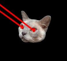 Laser Eyes Cat by ArseneLapin
