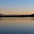 Sunset on the Tweed River at Chinderah. N.S.W. far nth. Coast. by Rita Blom