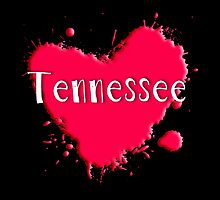 Tennessee Splash Heart Tennessee by Greenbaby