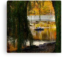 Central Park Rowboat Canvas Print