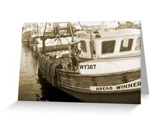 bread winners Greeting Card