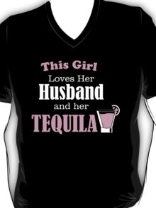 This Girl Loves Her Husband And Her Tequila  T-Shirt