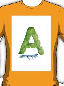 Watercolor alphabet A alligator art print painting T-Shirt