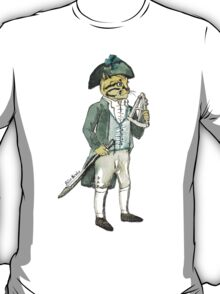 Captain Cat with a a Sextant T-Shirt